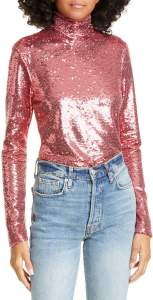 Cinq a Sept Joan Sequin Turtleneck Top